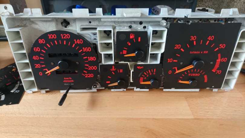 Restauration compteur GT Turbo